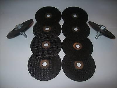 """10pc 3"""" CUT-OFF WHEEL DISCS AND 2 MANDRELS NEIKO USA"""