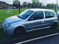 Renault clio sport 172 rs 2.0 phase 1 2000 silver track racing race car Not 182