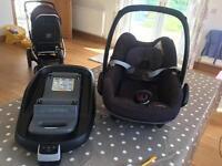 Maxicosi Pearl car seat and Isofix