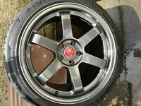"""18"""" staggered alloys 5x114.3 jap fitment et35"""