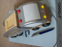 wooden toy pull-along transporter made by janod