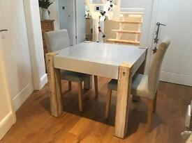 Habitat dining table and 4 chairs