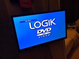 Logik 24inch tv DVD with bracket
