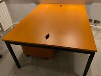 Double Sided Desk + Matching Pedestals