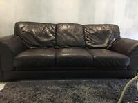 Dark Brown leather sofa 2&3 seater