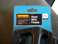 "halfords resin bmx pedals for 1/2"" axle"