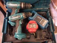 Makita 6280D + 8280D + Batery + Battery Charging Unit+ Case
