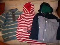 THREE BOY's 7/8 winter jackets 28/30 chest