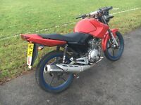 2012 Yamaha YBR 125 fully 12 months mot..street fighter.