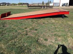 BRAND NEW CANRAMP 25 TON LOADING DOCK RAMP 10 FT HYDRAULIC MOBILE PORTABLE