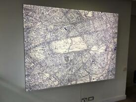 Map light box sign London