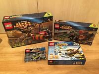 Collection of Lego Batman Superheroes sets. All brand new and sealed. 1 of search set included