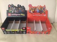 Job lot of 41 empty Lego Minifigure cases. Various series