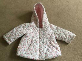 Baby girls coat up to 1 month