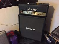 Like new Marshall JVM410H-JS for sale. Selling with Blackstar S1-412A.