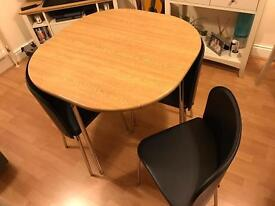 Compact Table and 4 Chairs - Excellent Condition