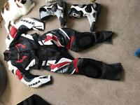 Motorbike leathers & boots