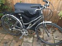 "Ladies 18"" Dawes Hybrid Bicycle. Inc basket & lights. Delivery & D lock available"