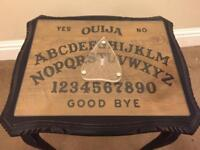 Beautiful custom made one off Ouija Board table with one off laser etched planchette