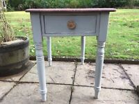 Hand Painted Shabby Chic Antique Pine Victorian Small Kitchen Table