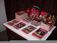 Arsenal Football Programmes Years 2000-2010 plus 5 years of membership packs with Dvd's, Books etc