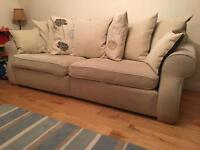 Quality cream 4 seater sofa & chair- REDUCED
