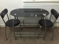 Breakast table small compact dining table 2 chairs