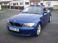 BMW 1 SERIES 120i se convertible 2008 half leather heated seats aircon 2 keys 6 speed 12 mot px