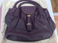 Fendi purple leather spy handbag - brand new with dustbag
