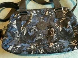 Genuine Kipling Follo Blue Feather Handbag - new with tags