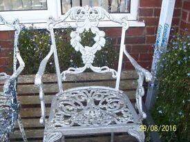 Cast Aluminium Garden Chairs