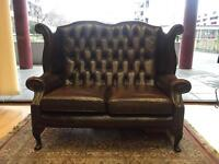 Queen Ann Chesterfield Highback Sofa
