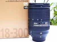 Nikon AF-S DX NIKKOR 18-300mm f/3.5-5.6G ED VR Lens Very Good Condition RRP £749