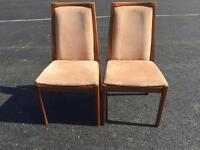 FREE TO UPLIFT - 2 NATHAN TEAK CHAIRS
