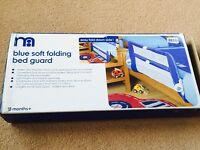 Mothercare Blue Soft Folding Bed Guard SUPERB!