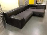 Genuine Leather L shape sofa, Free delivery