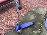 Blue mini micro scooter