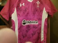 Wales signed Rugby Shirt