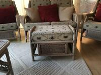 Light Grey Wicker Conservatory Furniture