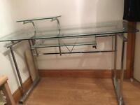 GLASS COMPUTER DESK | OPEN TO OFFERS