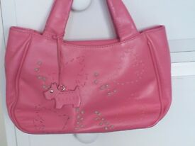 RADLEY LOVELY PINK DOVES OF PEACE TOTE / GRAB BAG WITH DOG TAG