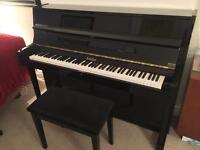 BLACK SCHILLER PIANO (6 years old). IMMACULATE CONDITION
