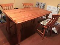 Kitchen table, dining table and 4 chairs