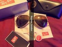 best rayban aviator wayfarer clubmaster men's women's sunglasses gold black pilot new box bag