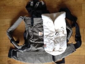 Ergobaby 3 position baby carrier with organic cotton infant insert