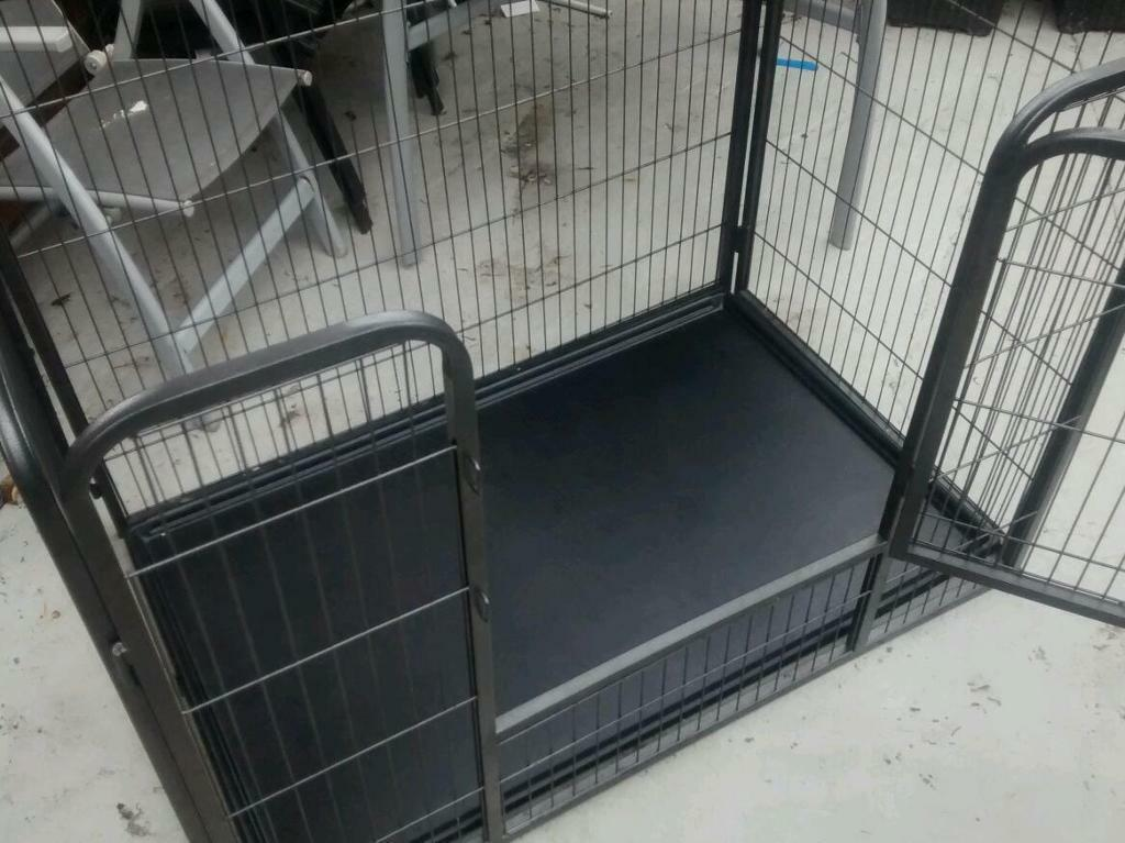 Large Dog Puppy Play Pen Run Enclosure Welping Playpen With Floor