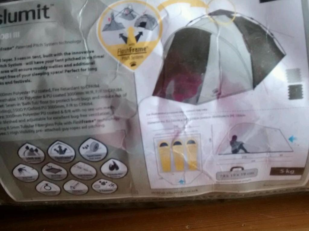 Slumit GOBI 111 three man tent & Slumit GOBI 111 three man tent | in Hull East Yorkshire | Gumtree