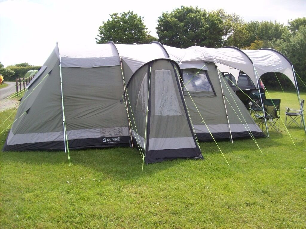 Outwell Montana 6 Tent + Canopy + C& Stove & Outwell Montana 6 Tent + Canopy + Camp Stove | in Strensall North ...