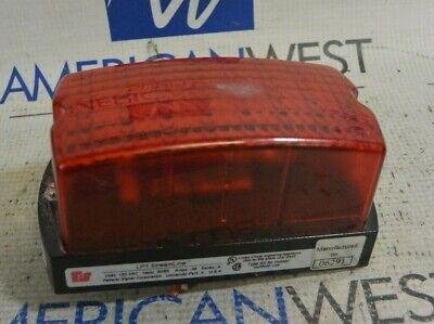 Federal Signal Lp1 Streamline Series A Red Strobe Light 120vac 5060hz .06a