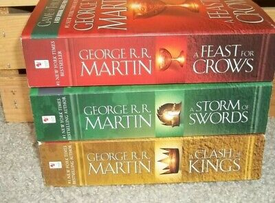 Game Of Thrones Books Lot Clash Of Kings Storm Of Swords Feast For Crows Books